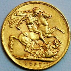 South Africa Gold Sovereign 1927 Sa Mint George V Km 21 R230-l
