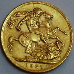 South Africa Gold Sovereign 1927 George V Sa Mint Km 21 R411-l
