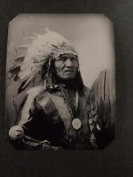 Sixth-plate Native American Sioux Indian Tintype C2436rp