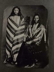 Sixth-plate Native American Indian Old Crow And Wife Tintype C2443rp