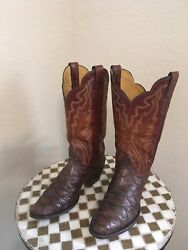 Justin 2220 Rockabilly Brown Classic Western Cowboy Ranch Boots 7.5 D