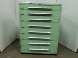 Industrial 8 Drawer Small Parts Tooling Storage Cabinet 45w X 27-3/4d X 61t