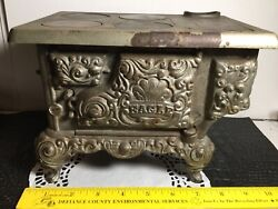 Antique Lancaster Brand Eagle Cast Iron Childs Toy Cook Stove 9andrdquo