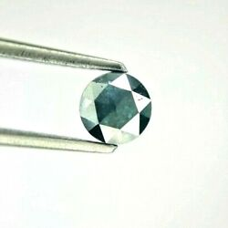 Natural Diamond Real Diam 0.49tcw 4.9 Mm Blue Round Rose Cut For Mother Day Gift