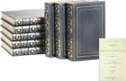 H.a. Taine-history Of English Literature-1895-deluxe Ed-1/25 Sets-fine Binding