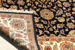 9x12 Feet Hand Knotted Oriental Black Area Rugs Persians Large Handmade Carpet