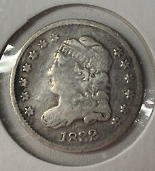 1832 Lm-7 R-2 Capped Bust Fine F Silver Us Half Dime H10c
