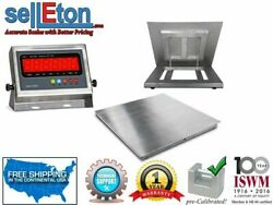 Stainless Steel 5and039x5and039 60x60 Floor Scale Indicator Wash 1000 Lbs X .2 Lb