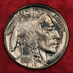 1937-p Buffalo Five Cents, Pcgs Ms67, Better Coin Amazing Luster Sale 25