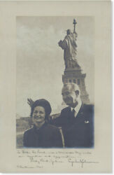 Lbj And Lady Bird Orig. Photo Portrait Christmas 1965 Inscribed And Signed By Both