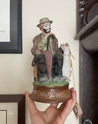 Emmett Kelly Jr Flambro Hand Signed Send In The Clowns Music Box Collectible