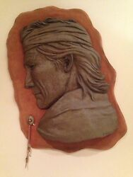 Vintage Native American Casted Art Piece Real Skin P.vickers 80andrsquo Limited