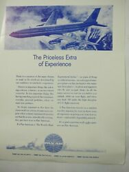 The Priceless Extra of Experience Pan AM Advertising Flyer 1960 70#x27;s