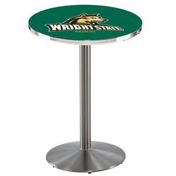 Holland Bar Stool Co. L214s4228wrtstu 42 Stainless Steel Wright State Pub Table