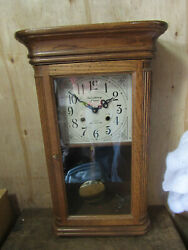 Strausbourg Manor Wall Mechanical Clock Hourly and Half Chime w Key