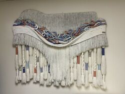 Huge Macrame Wall Hanging Tapestry 48x60 Inches By Macramates Vintage 80s