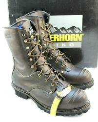MATTERHORN Size 11 D MT960 Waterproof Safety Toe Insulated Logger 10quot; Mens Boot