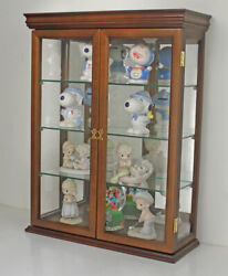 Tuscan Style Small Wall Curio Cabinet Stand Or Wall Mount 20 W X 26 H X 7