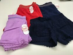 WONDER NATION GIRLS SHORTS NWT SIZE 45 66X 78 1012 1416 $8.99