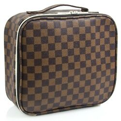 Luxouria Travel Checkered Makeup Bags Cosmetic Bags $20.90