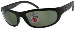 Ray Ban Predator Polarized Sunglasses RB4033 601S48 Matte Black W G 15 Green $83.15