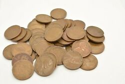 Wheat Cent Penny Roll 50 Count 1944 D Circulated Lincoln Head