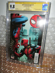 Cgc 9.8 Ss Game Stop Edition Spider-man Deadpool 1 Signed By Ed Mcguiness
