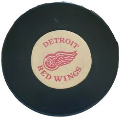Detroit Red Wings Nhl Vintage Official Game Puck Ccm Art Ross Converse 🇺🇸