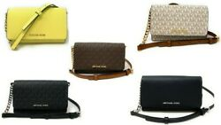 Michael Kors Jet Set Travel Medium Multifunction Phone Crossbody Bag Clutch $78.97