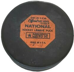 Double Sided Nhl Vintage Official Practice Game Puck Ccm Art Ross Converse 🇺🇸