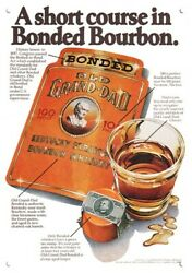 1979 Old Grand Dad Kentucky Bonded Bourbon Whiskey Replica Metal Sign