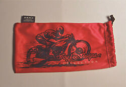 New OAKLEY Troy Lee Large Red Mirofiber Pouch Storage Sunglasses Bag 4quot; x 7.5quot; $8.51