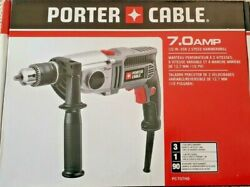 Porter Cable Pc70thd 1/2 7 Amp Vsr 2-speed Heavy Duty Hammer Drill New Sealed