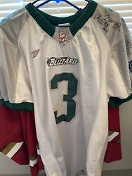 Arena Football Jersey Afl 2 Green Bay Blizzard Signed Game Worn Dixon 3 Noble