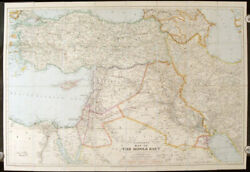 Stanford's Map Of The Middle East / 1933