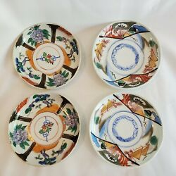 Vintage Set Of 4 Asian Japanese Ceramic Rice Soup Dipping Sauce Soy Bowls Dishes