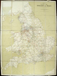 England / Wales / Airey's Railway Map Of England And Wales 1901 8th Edition