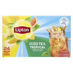 Lipton Tropical Iced Tea Bags Unsweetened Made With Tea Leaves Sourced From Rain