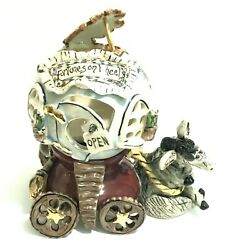 Blue Sky Clayworks Fortunes On Wheels By Heather Goldminc Retired Candle Holder