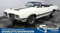 1972 Oldsmobile 442 W-30 Convertible classic vintage chrome restored olds white black vinyl interior drop top muscle