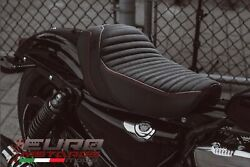 Luimoto Classic Suede Tec-grip Seat Cover For Harley Davidson Iron 1200 2018-20