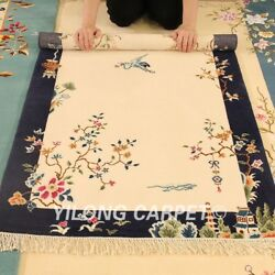 Yilong 3and039x4.7and039 Cute Hand Woven Wool Carpet Chinese Art Deco Tapestry Area Rug