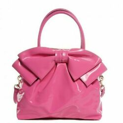 VALENTINO Authentic 'Lacca Dome Bow' Bag Pink Patent leather Mint RARE Designer $945.50