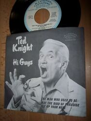 Nm 1975 Ted Knight The Man Who Used To Be Demo 7 45rpm W/pic Slv