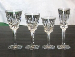 Rare Service Of Glasses Crystal Carved Toul Stamped Schneider 43 Parts