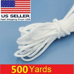 500 Yd Round Elastic Rope Band Cord Ear Hanging Tape Sewing Craft For Face Mask
