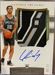 2019-20 National Treasures Quinndary Weatherspoon Rc Rpa Sick Logo Patch /10