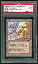 1994 Mtg Magic The Gathering Card Antiquities Urza's Mine Mouth Psa 9