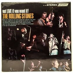 The Rolling Stones Got Live If You Want It Original 1966 First Press Sealed Lp