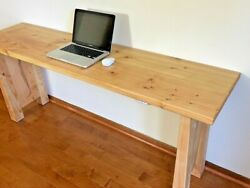 Handmade Wood Computer Desk Rustic Modern Pc Laptop Study Table Home Office